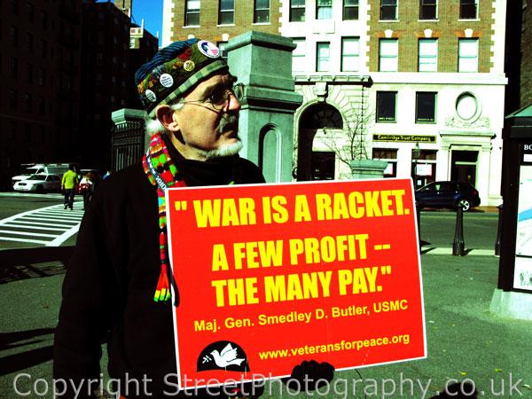 War Is A Racket, Street Photography,